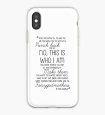 Once Upon a Time - Emma Swan Quote B&W iPhone Case