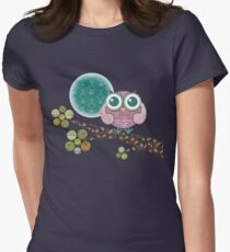 Midnight Owl Women's Fitted T-Shirt