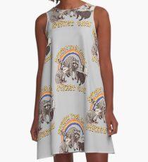 Straßenkatzen A-Linien Kleid