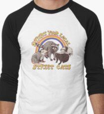 Camiseta ¾ bicolor para hombre Gatos de la calle