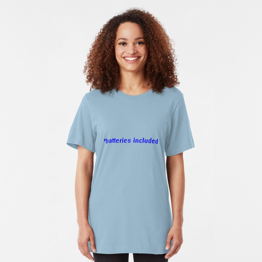 *batteries included Slim Fit T-Shirt