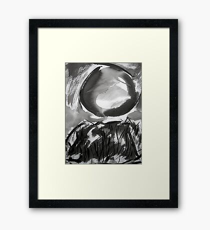 falling moon... Framed Print