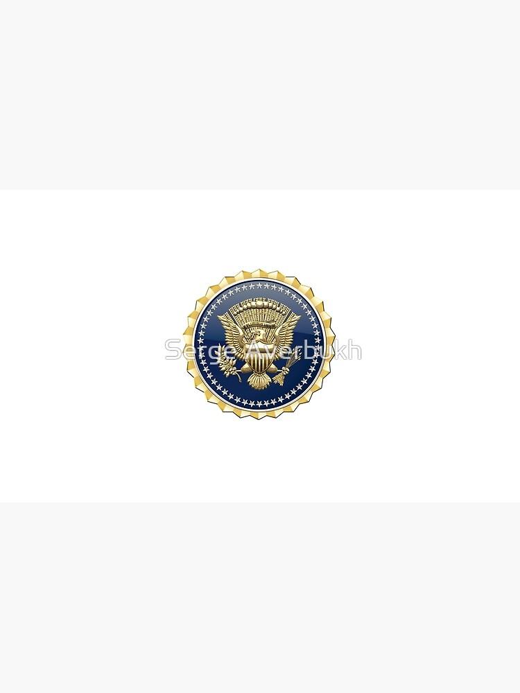 Presidential Service Badge - PSB 3D on Red Velvet de Captain7