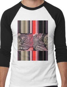 floral t-shirt design Men's Baseball ¾ T-Shirt