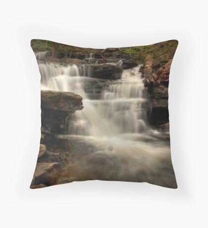 Below Delaware Falls Throw Pillow