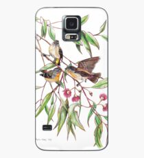 Spotted Pardalotes on Pink Flowering Gum Case/Skin for Samsung Galaxy