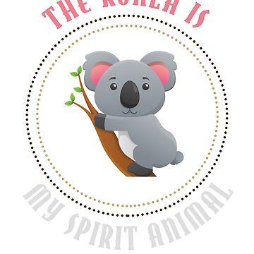 """Koala Bear Is My Spirit Animal"" Shirt Gift For Animal Lovers by techman516"
