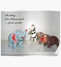 Plastic Animals Haiku Art Print Poster