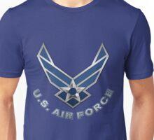 U.S. Air Force - USAF Logo 3D on Blue Velvet Unisex T-Shirt