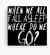 Lienzo cuando todos nos dormimos donde vamos