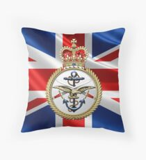 British Armed Forces Emblem 3D Throw Pillow