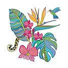 «Flores tropicales bohemias» de nadyanadya
