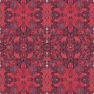 """bline odds"" - oil pastels abstract digital mirrored pattern by sdthoart"