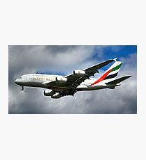 Emirates A380 Photographic Print