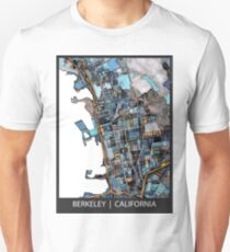 ABSTRACT MAP OF BERKELEY, CA Slim Fit T-Shirt