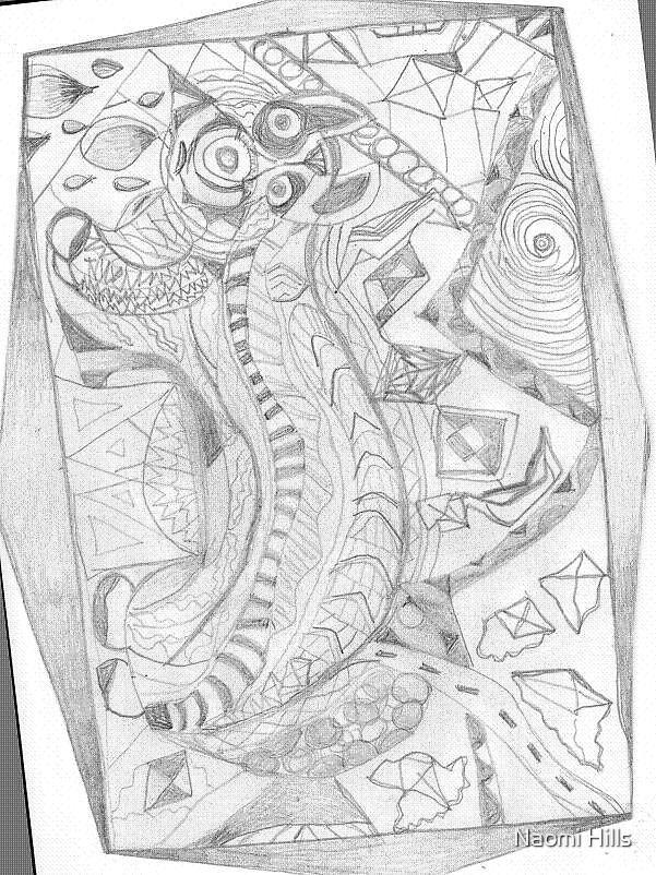 Naomi's abstract drawing. by Naomi Hills