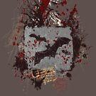 Vampire Bats - Blood Spatters - Grunge Design by Denis Marsili