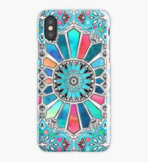 Iridescent Watercolor Brights on White iPhone Case
