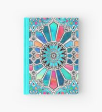 Iridescent Watercolor Brights on White Hardcover Journal