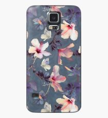 Butterflies and Hibiscus Flowers - a painted pattern Case/Skin for Samsung Galaxy