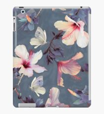 Butterflies and Hibiscus Flowers - a painted pattern iPad Case/Skin