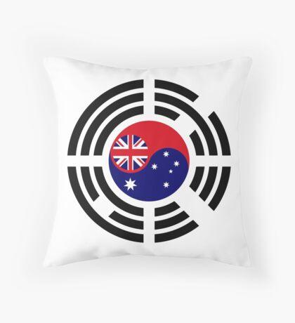 Korean Australian Multinational Patriot Flag Series Throw Pillow