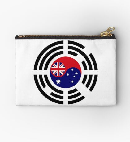 Korean Australian Multinational Patriot Flag Series Zipper Pouch