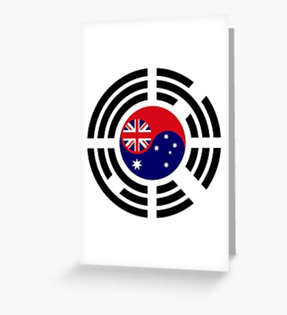Korean Australian Multinational Patriot Flag Series Greeting Card
