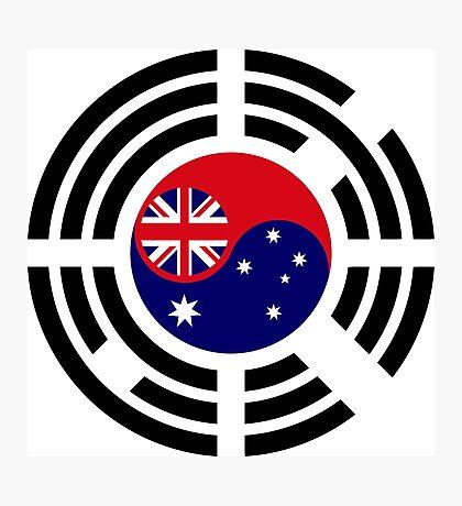 Korean Australian Multinational Patriot Flag Series Photographic Print