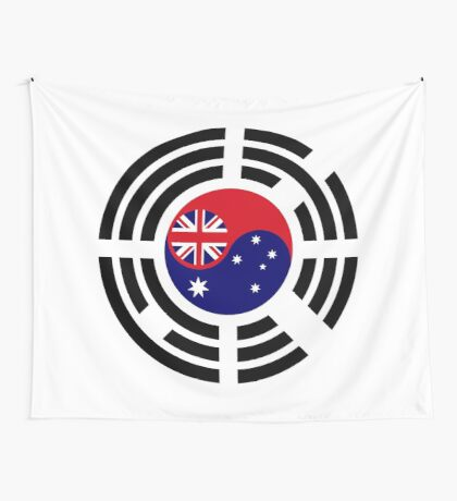 Korean Australian Multinational Patriot Flag Series Wall Tapestry