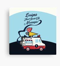 Nuance Retro: Ice Cream Truck Time Machine   Canvas Print
