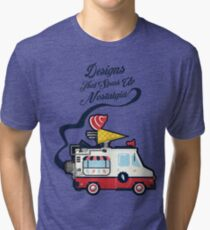 Nuance Retro: Ice Cream Truck Time Machine   Tri-blend T-Shirt