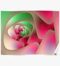 Mint and Raspberry Spiral Poster