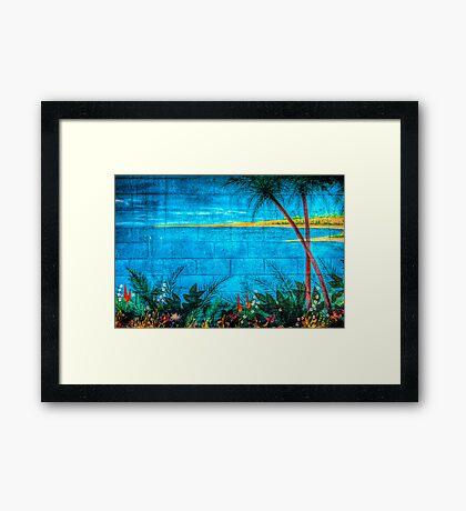 Concrete Paradise Framed Print
