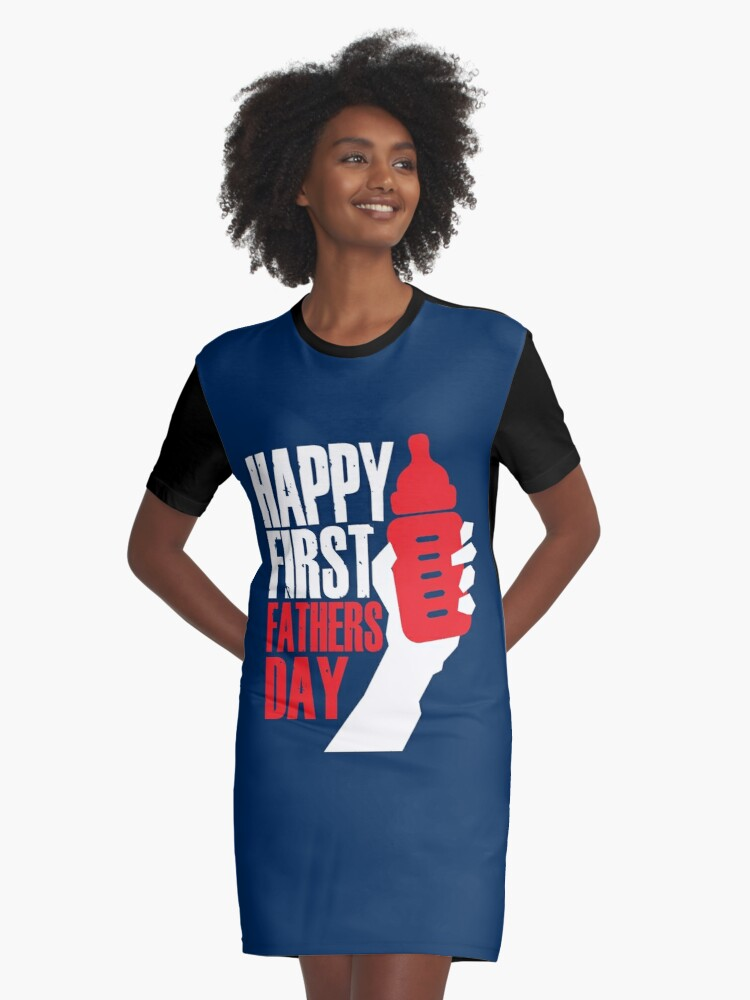 93d804ad9 First Fathers Day for Green Day Fan - American Idiot Album Cover Parody  Graphic T-Shirt Dress