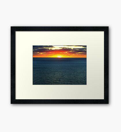 The Darkening Sea Framed Print