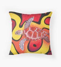 Red Turtle Teddie Throw Pillow