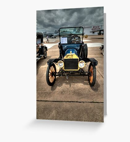 Model T at Warbird Show Greeting Card