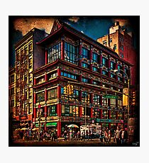 Intersection of Canal & Center Streets, NYC, USA Photographic Print
