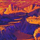 "Number 8 ""Orange and Purple Hills"" by monkeyonstrike"