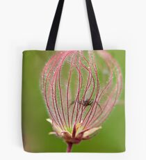 Prairie Smoke and Spider Tote Bag
