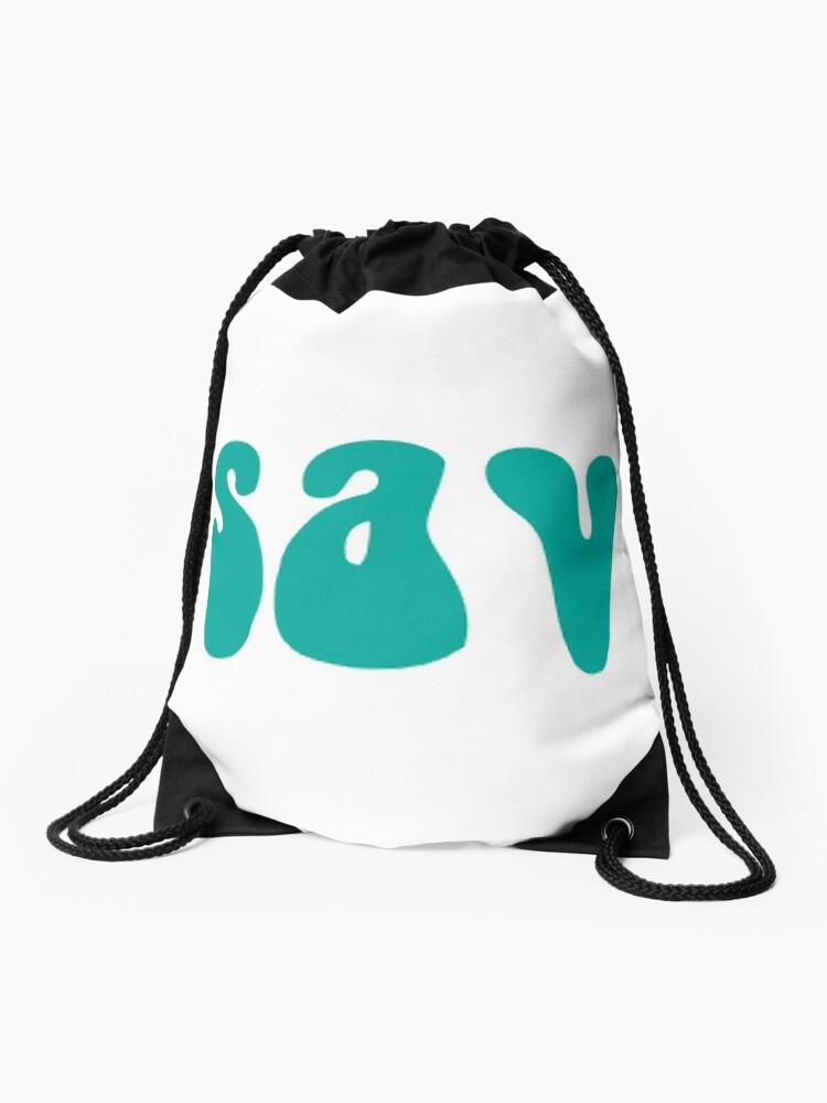 Sav On Bags >> Sav Turquoise Drawstring Bag