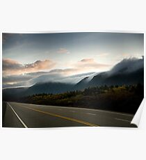 Clouds on Newfoundland Mountains Poster