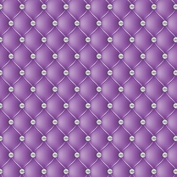 Elegant Bright Violet Purple Diamond Tufted Look Upholstery Pattern by jollypockets