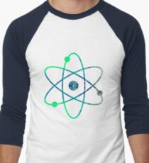 Wissenschaft ATOM-Symbol Baseballshirt mit 3/4-Arm