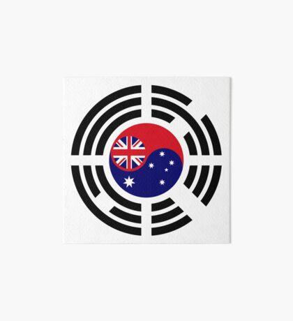 Korean Australian Multinational Patriot Flag Series Art Board Print