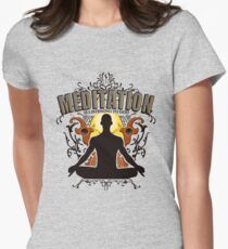 Meditation is LISTENING to GOD Women's Fitted T-Shirt