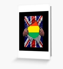 Bolivian Flag Ripped - Born In United Kingdom Roots From Bolivia Grußkarte