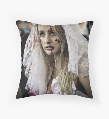 Nice Day for a White Wedding Throw Pillow
