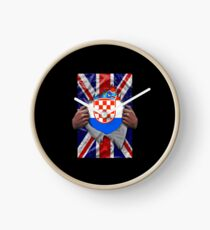 Croatian Flag Ripped - Born In United Kingdom Roots From Croatia Uhr